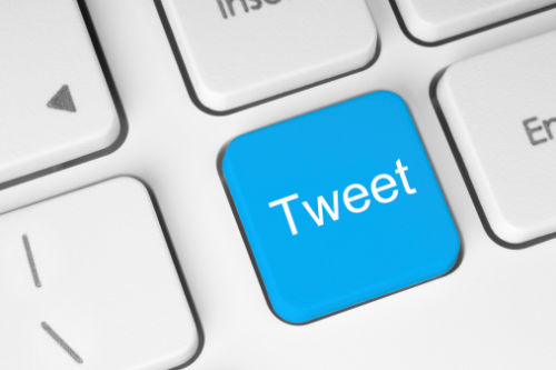 Blue Tweet Button on Keyboard - Law Office of Shelly Ingram